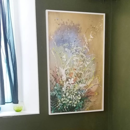 Paintings by Cara Enteles Studio seen at Creator's Studio, New York - Meadow on My Mind