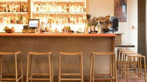 Chairs by Fyrn seen at Shakewell, Oakland - Bartlett Backless Bar Stool
