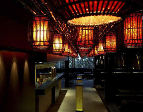 Lighting by Kenneth Cobonpue at Ivanhoe Hotel L2 Lounge and Bar, Manly, Australia, Manly - Geisha Lantern