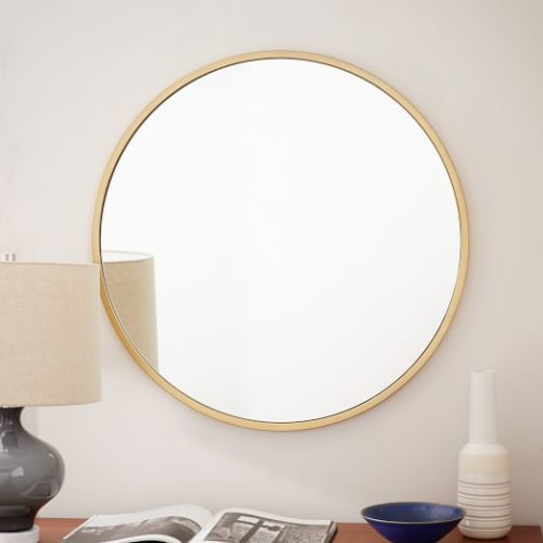 Beds & Accessories by West Elm at The Joshua Tree Casita, Joshua Tree - Round Mirror