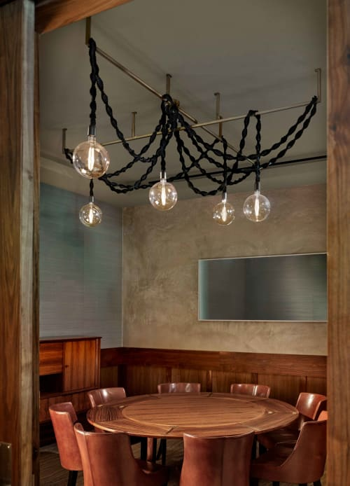 Chandeliers by Windy Chien seen at Protégé, Palo Alto - Helix Chandelier - Black