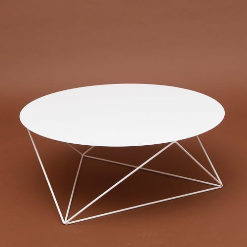 Tables by Amigo Modern seen at Private Residence, Brooklyn - Octahedron Side Tables