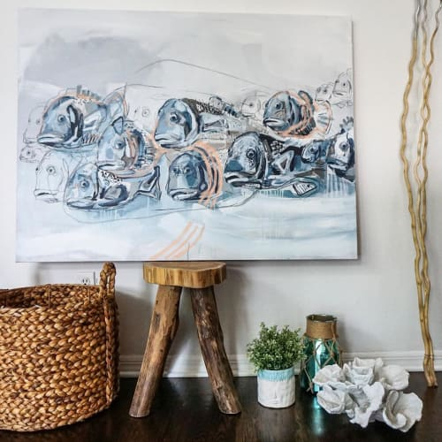 Paintings by Andreina Bates seen at Private Residence, Jupiter - 'This Way'