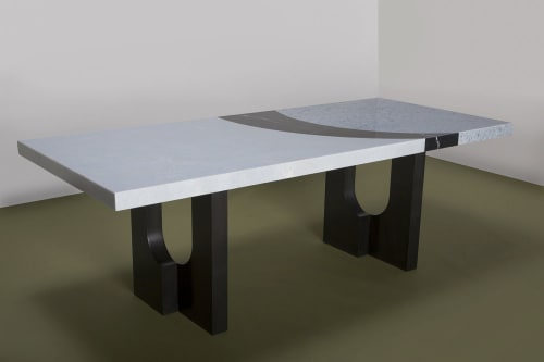 Tables by Kin & Company seen at WorkOf Showroom, Brooklyn - Geo Table