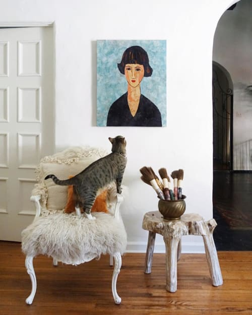 Art & Wall Decor by Sharlene Kayne (Skayne Designs) seen at Private Residence, Los Angeles, Los Angeles - Young Brunette