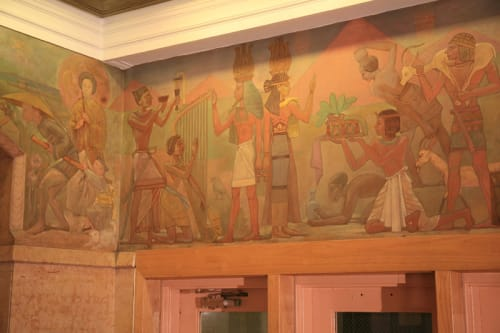 Murals by Abraham Lishinsky seen at Bayard Rustin Educational Complex, New York - The Art Contribution to Civilization of All Nations and Countries