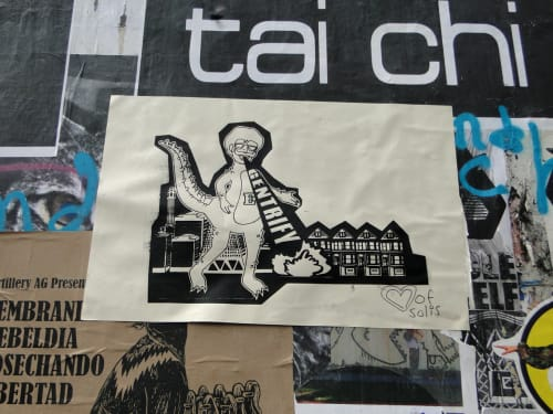 Street Murals by Heart of Solis seen at Valencia Street, SF, San Francisco - Gentrify E