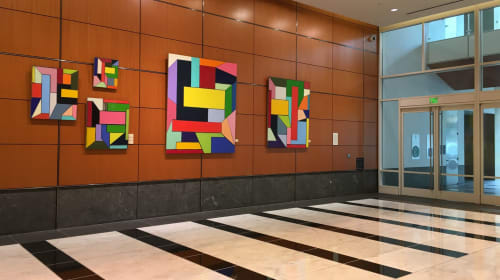 Paintings by Charles Arnoldi seen at 101 Second Street, SF, San Francisco - Core