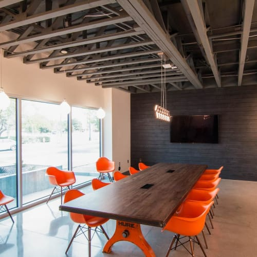 Tables by Vintage Industrial seen at TSK (Tate Snyder Kimsey Architects), Henderson - Hure Conference Table