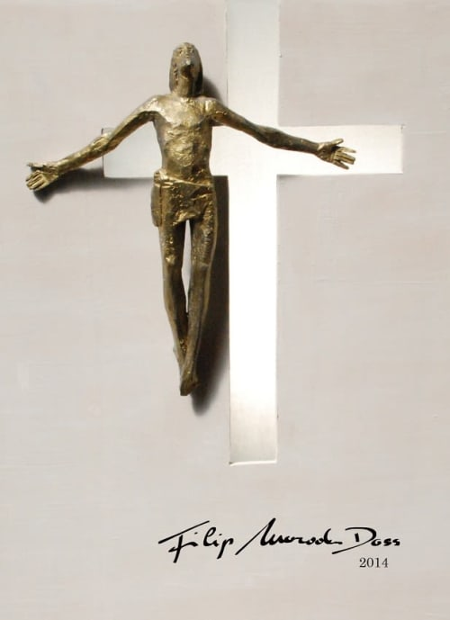 Public Sculptures by Filip Moroder Doss at Basilica of Our Lady of the Rosary of Fatima, Fátima - Resurrected Christ