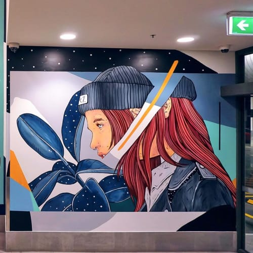 Murals by Sortwo seen at Toombul, Toombul - ENCOUNTER