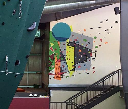 Murals by Sandy Litchfield at EVO Rock + Fitness, Louisville, Louisville - Onward and Upward
