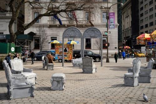 Public Sculptures by Liz Glynn seen at Doris C Freedman Plaza, New York - Open House