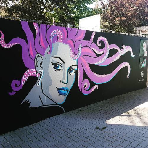 Contemporary Tape Art Mural   Murals by Fabifa