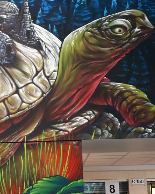 Murals by Bruno Smoky at Algonquin College, Ottawa - Algonquin College