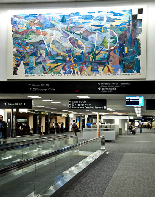 Paintings by William T. Wiley at San Francisco International Airport, San Francisco - Void