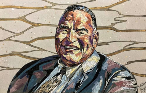 Public Mosaics by Carole Choucair Oueijan - Mayor Bob Bartlett Memorial