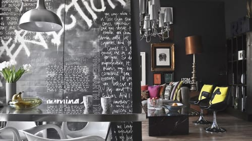 Wallpaper by Jimmie Martin seen at Notting Hill Apartments, London, London - Black Imperfection