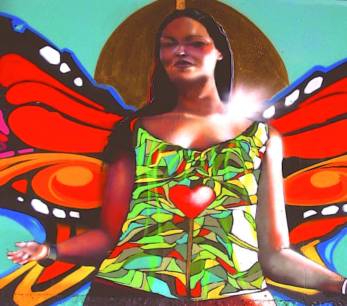 Street Murals by Chor Boogie seen at Chicano Park, San Diego, San Diego - Butterly