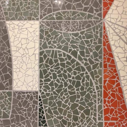 Murals by Johanna Burke of Burke & Pryde seen at Ten Thousand, Los Angeles - Mosaic Mural