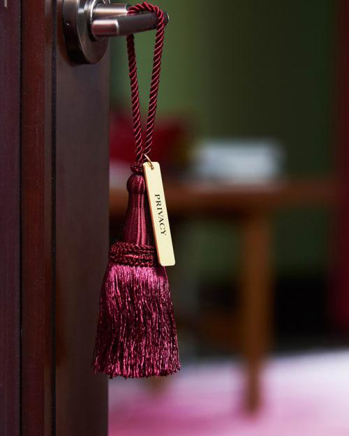 Lighting by Julian Schnabel seen at Gramercy Park Hotel, New York - Bronze door handles
