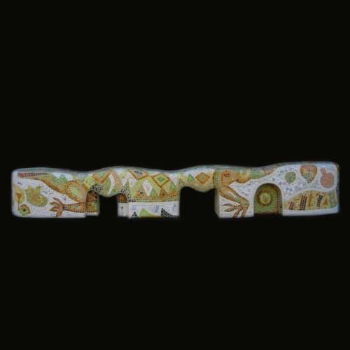 Sculptures by Dmitry Mosaics seen at Berkeley, CA, Berkeley - Benches