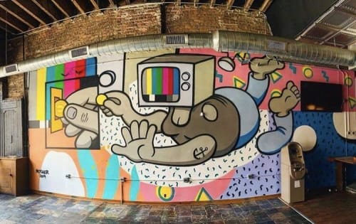 Murals by Mosher seen at Emporium Wicker Park, Chicago - Mural
