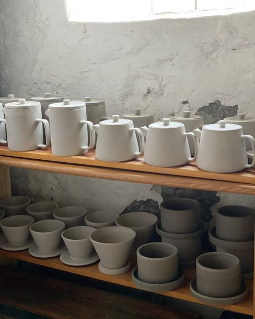 Tableware by Stone + Sparrow seen at Private Residence, Pittsburgh - Unfired Ceramics