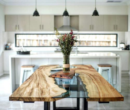 Tables by Wild About Wood seen at Private Residence, Melbourne, VIC, Melbourne - Camphor