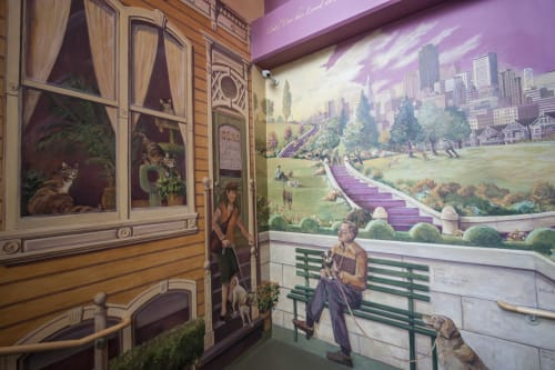 Murals by Jennifer Ewing seen at San Francisco SPCA Veterinary Hospital Pacific Heights, San Francisco - Tribute Mural to Honor Pets