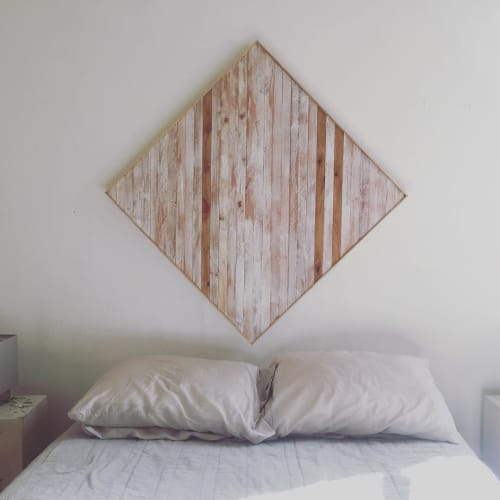 Wall Hangings by Nicole Sweeney seen at Private Residence, San Francisco - Whitewashed Wall Hanging