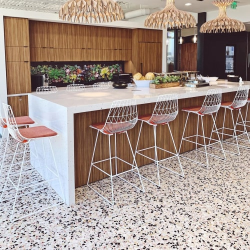 Tiles by concrete collaborative seen at Office Furniture Group, Los Angeles - Venice Alabaster Mixed Chip Terrazzo Tile