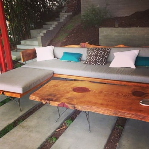 Tables by Objects for Others seen at Private Residence, Los Angeles - Live Edge Table