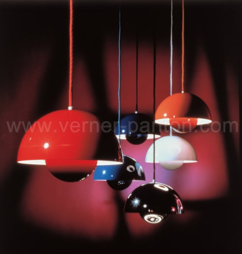 Lighting by Verner Panton seen at L'estudio, New York - Orange Lamp