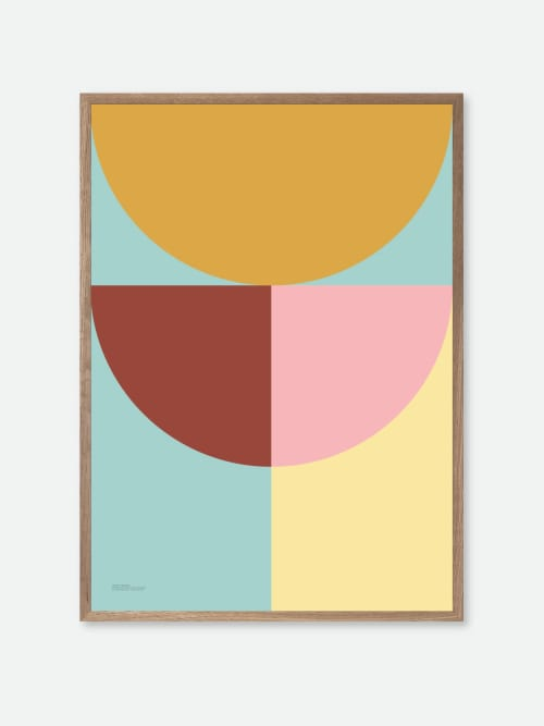 Paintings by Things I Imagined seen at Private Residence, Copenhagen - Pastel Geometric Poster