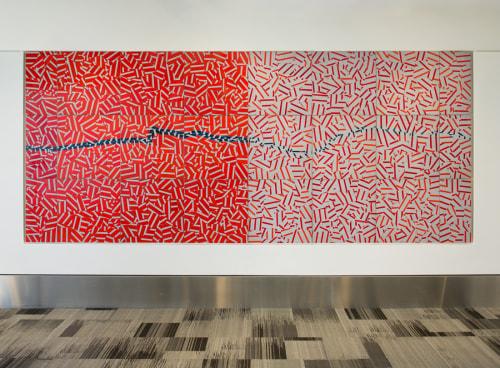 Art & Wall Decor by Jim Melchert seen at San Francisco International Airport, San Francisco - Riven/River