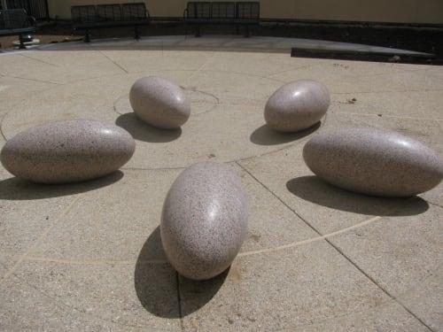 Sculptures by Jonathan Bonner seen at Laguna Honda Hospital and Rehabilitation Center, San Francisco - Bloom
