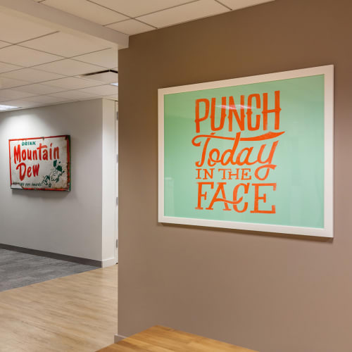 Art & Wall Decor by Jay Roeder seen at PepsiCo HQ, Harrison - Punch Today In The Face
