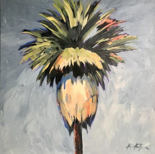 Paintings by Kathleen Keifer seen at Private Residence, Malibu - Palm Trees painting