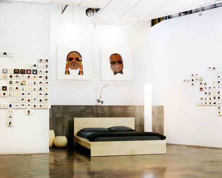 Art & Wall Decor by Doug Murphy seen at Hotel Des Arts, San Francisco - Lego/Emoji-like Form Celebrity Portrait
