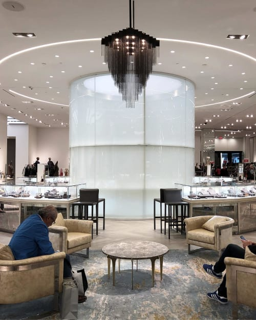 Chandeliers by Gabriel Scott at Saks Fifth Avenue, Downtown Miami, Miami - Kelly Chandelier