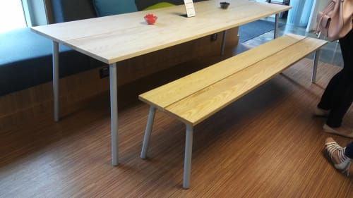 Tables by Industrial Facility seen at One Workplace, Santa Clara - Run Table and Bench