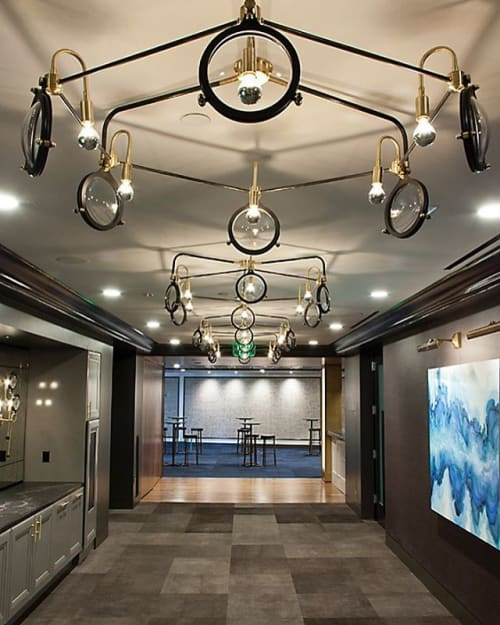 Chandeliers by Neptune Glassworks seen at The Alexandria, San Diego - Hex Chandelier