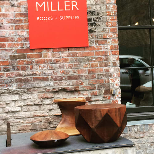Tables by Joel Sayre at Peter Miller Architecture And Design Books, Seattle - Maple End Table and Small Walnut Table
