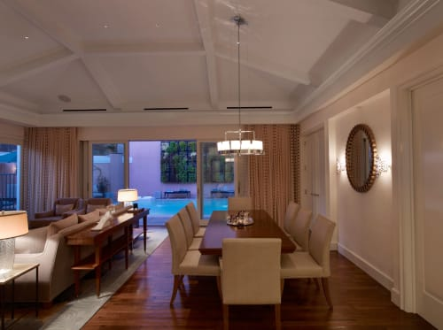 Rugs by Rottet Studio seen at The Beverly Hills Hotel, Beverly Hills - Walnut Flooring