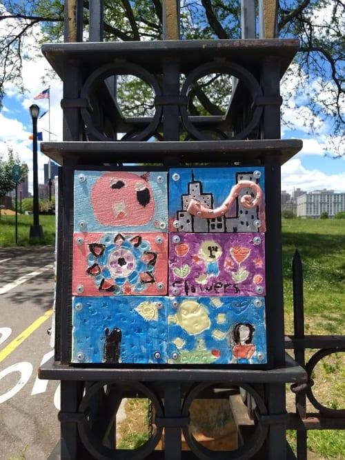 Tiles by Penelope Eleni Gaitanis-Katsaras seen at Rainey Park, Queens - Neighborhood Stories
