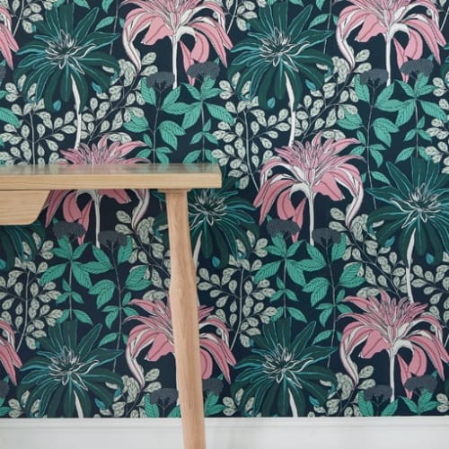 Wallpaper by Abigail Borg seen at Red Herring, Los Angeles - Wallpaper Mathilda – Midnight