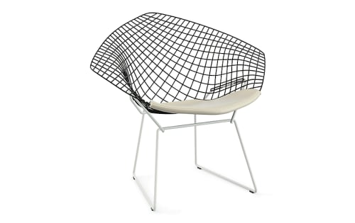 Chairs by Harry Bertoia at Hotel Diva, San Francisco - Bertoia Two-Tone Diamond Lounge Chair With Seat Pad