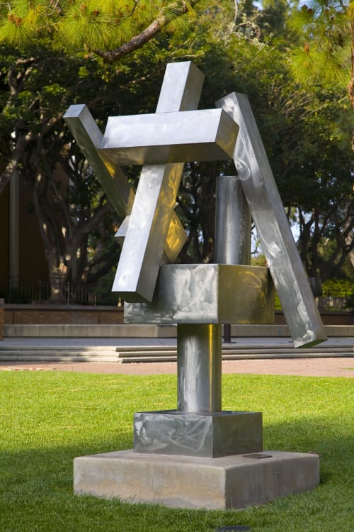 Sculptures by David Smith seen at Franklin D. Murphy Sculpture Garden, Los Angeles - Cubi XX