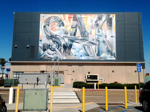 Murals by Jari WERC Alvarez seen at San Diego International Airport, San Diego - SAN